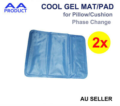 2x Summer Cool Mat Ice Pad Gel Pillow Cushion for Bed Sofa Small Size 29cmx39cm