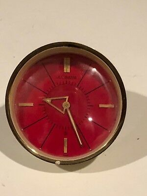 1950's Jaeger LeCoultre Memovox Art Deco Space Age Style 8 Day Alarm Clock
