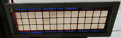 ~ Antique Stained Glass Transom Window ~ 48 X 17 ~ Architectural Salvage
