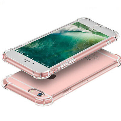 For Apple iPhone 6s 7 8 Case Clear Hybrid Slim Shockproof Soft TPU Bumper Cover