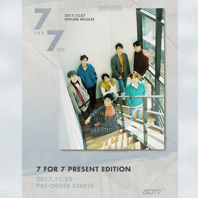 GOT7 [7 FOR 7 PRESENT EDITION] CD+POSTER+Photo Book+Lyrics+3 Card+Pre-Order+GIFT