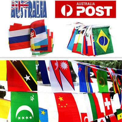 100 Countries String Flag 25m International World Flags Bar Party Bunting Banner