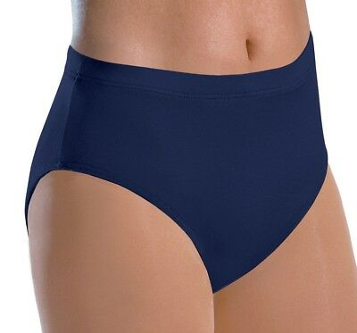 NEW Pizzazz Girl's Large 12-14 Navy Blue Cheer Dance Briefs Trunks Underpants