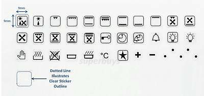 36pc Replacement Symbols Oven Cooker Rangehood Dial Sticker Label Stove Switch