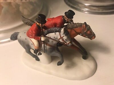 Dept 56 Tallyho! English Foxhunt Horses & Dogs Retired Dickens Village