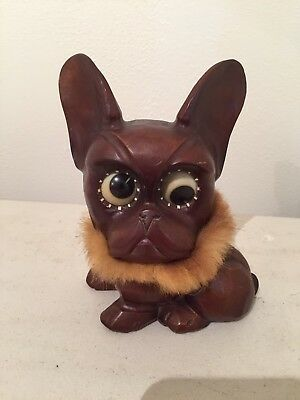 Vintage Oswald Rolling / Rotating Eyes Dog Clock - Made In Germany