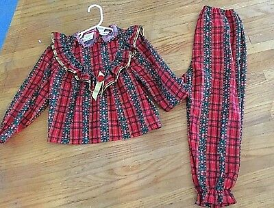 Vtg  Jackie &  Girls   Christmas  2 piece pajama   Still with tags