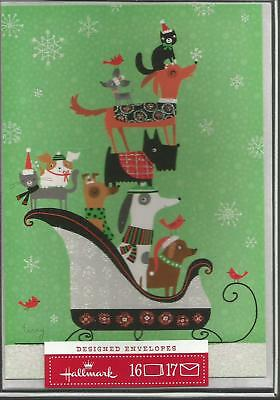 Christmas Cards Dogs & Cats Box Brand New  16 Cards/17 Envelopes