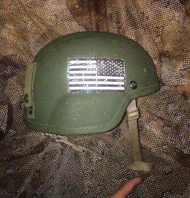 Large MSA TC2000 MICH/ACH Combat Helmet with Ops Core chinstrap sf marsoc Kevlar
