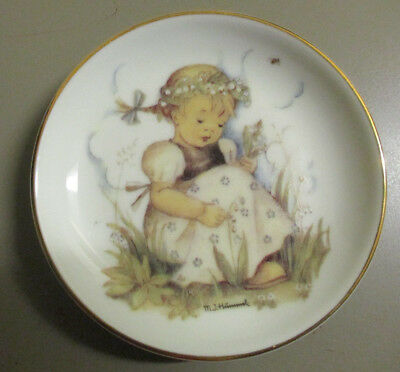 """LIly Of The Valley M I Hummel 4"""" Mini Plate Free Shipping"""