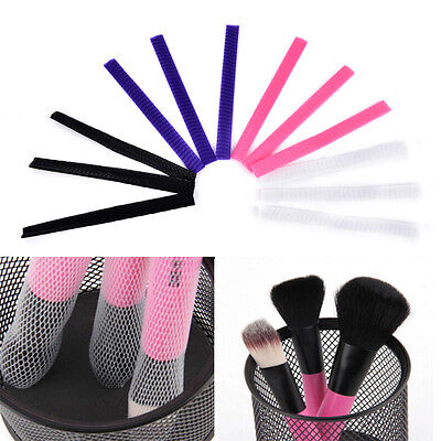 30x Cosmetic Make Up Brush Pen Netting Cover Mesh Sheath Protectors Guards R