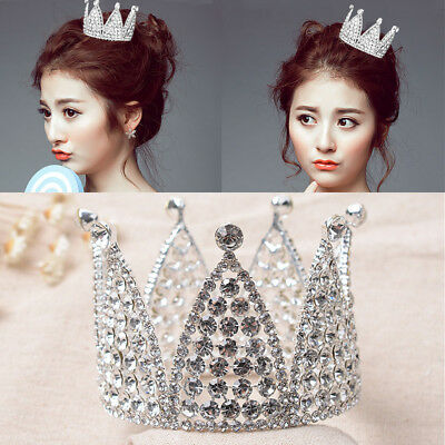 Luxury Crystal Rhinestone Pageant Princess Headpiece Wedding Bridal Crown Tiara