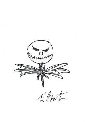 Tim Burton drawing from  A Nightmare Before Christmas