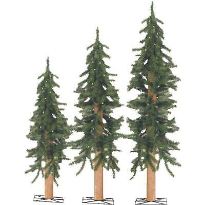 2-3-4ft P/L Alpine Trees, Pack of 2, PartNo 253-0, by Gerson/ Domestic