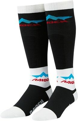 ICON - RAIDEN Black/White Dirtbike/Motocross/MX Performance Socks Choose Size