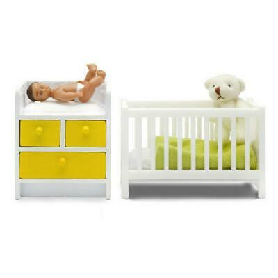 Doll's Stockholm Cot, Change Table & Baby Set - Lundby