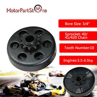 "10 T 10 Dents 420 Embrayage Centrifuge Kart Buggy 3/4"" 3/4 Q Arbre Karting 19 mm"