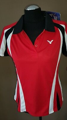 Victor Polo Function Damen Gr.40 Badminton Tischtennis Lady 6843 red rot NEU