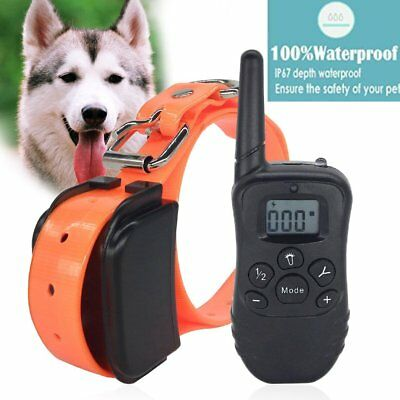 Electric Remote Dog Training Shock Collar Rechargeable Waterproof Control Collar