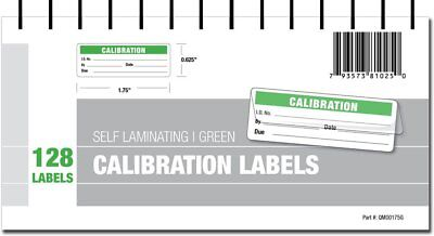 Calibration Labels - Self Laminating with Spiral Bound Cover Green