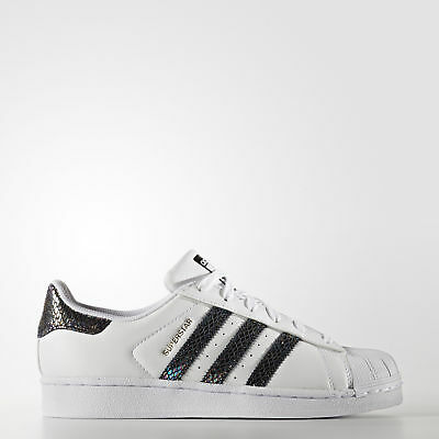New adidas Originals Superstar Metallic Snake Shoes S76352 Kids' Sneakers