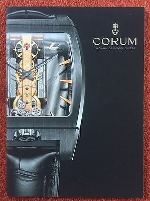 Original CORUM Uhren Prospekt Katalog 2014 - 2015  TOP + RAR