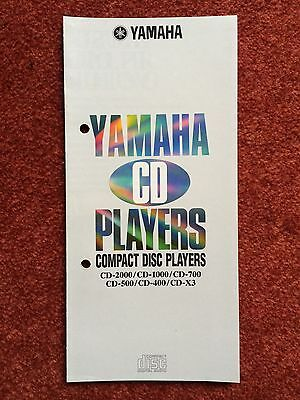 "Original Yamaha HiFi Katalog Prospekt ""CD Players"" ca. 1986 CD 2000 1000 700 RAR"