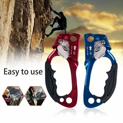 Hand Grasp Ascender Mountaineering Rock Climbing Device Outdoor Riser Climber WE