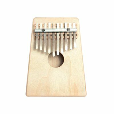 10 Key Finger Mbira Kalimba Thumb Piano Mini Pine Wood Percussion Instrument W0