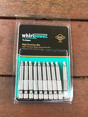 WHIRLPOWER 👌👌r2 Square Drive ✅✅Screw Driver Bit Pack 10