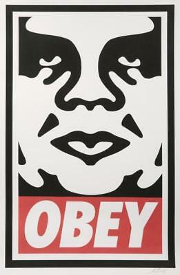 "Shepard Fairey・Obey Icon Offset・Lithographie signée・Andre Giant・24""x36"" Logo Red"