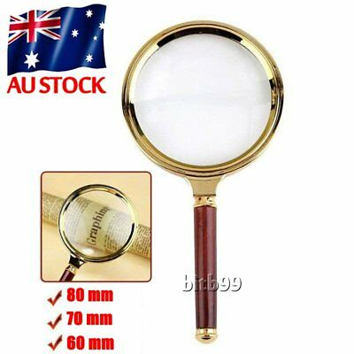 60/70/80MM 5X/10X Handheld Jewelry Magnifier Magnifying Glass Jewelry Loupe W0