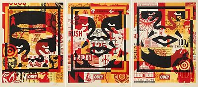 Shepard Fairey・Obey Giant・Andre 3-Face Offset Collage・3 Prints Set・18x24 Signed