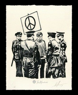Shepard Fairey・Peaceful Protester・S/N/450・Obey Giant・Not Peace n.e.r.d Protestor