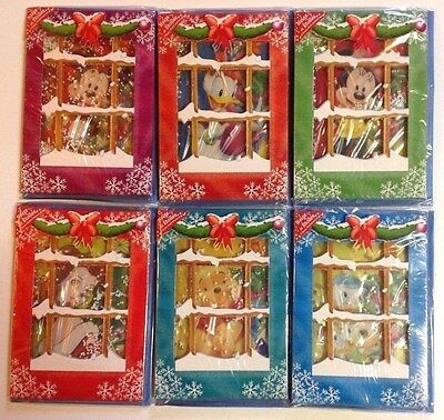 DISNEY 6 CARTES BONNE ANNEE RELIEF NEIGE PERSONNALISABLE enveloppe MINNIE MICKEY