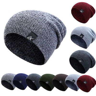 Fashion Men's Women Beanie Knit Ski Cap Hip-Hop Winter Unisex Wool Hat 2018 AU