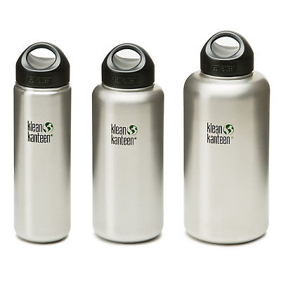 Klean Kanteen Wide - Stainless Steel water bottle with loop cap