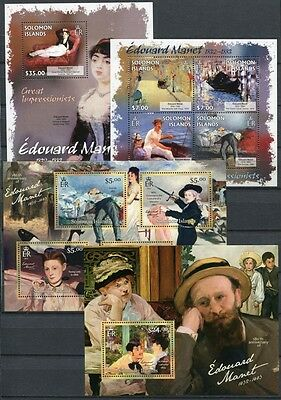 2/SALOMON-INSELN SOLOMON 2013 Gemälde Impressionismus Manet Paintings ** MNH
