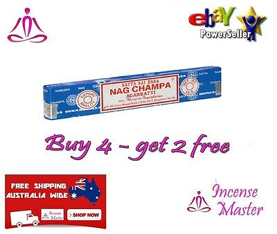 Nag Champa Satya Sai Baba Incense Sticks 15g x 1 Box Pack Authentic Original