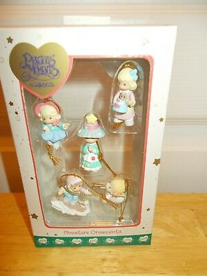 PRECIOUS MOMENTS by Enesco:5 Miniature Ornaments from 2001