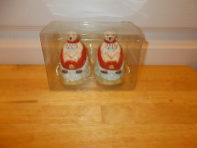 COCA COLA POLAR BEAR Downhill Salt & Pepper Shaker Set