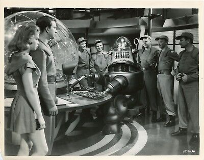 "Anne Francis Leslie Nielsen ""Planete Interdite"" (Forbidden Planet) Photo Em"