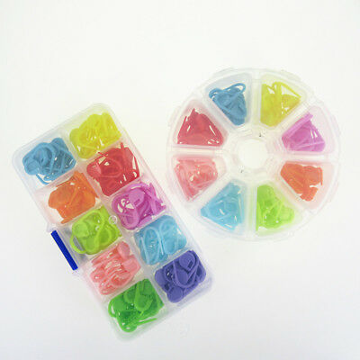 104/120x Plastic Knitting Crochet Locking Stitch Markers Tools With Box Package