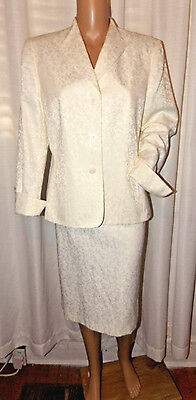 Le SUIT WOMEN'S MOTHER OF THE BRIDE SPECIAL OCC SKIRT SUIT SIZE 12 IVORY NWOT