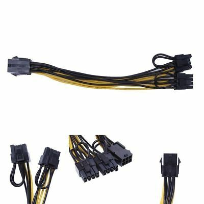 PCI-E 6pin Male to Dual Male PCIE 8pin (6+2pin) Graphics Video Card Power Cable