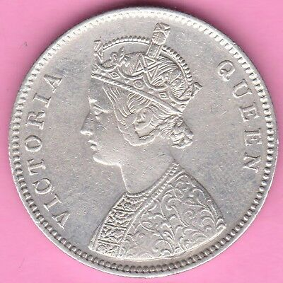 British India-1862-4 Dots Variety-One Rupee-Victoria Queen-Rarest Silver Coin-10
