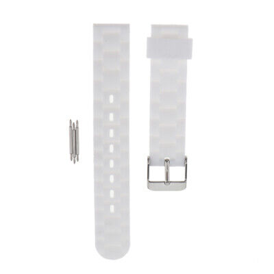 Rubber Silicone Waterproof Sports Watchband Strap Deployment Clasp Spring Bars