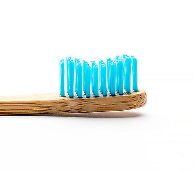 Humble Brush Bamboo Adult Toothbrush with Nylon Soft Bristles - Blue- BPA Free