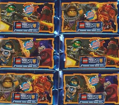 6 BOOSTER LEGO NEXO KNIGHTS TOPPS 30 images FRANCAIS cartes Trading Card