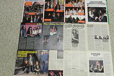 METALLICA: Lot of 50 Magazine Clippings & Pinups vintage OUT OF PRINT